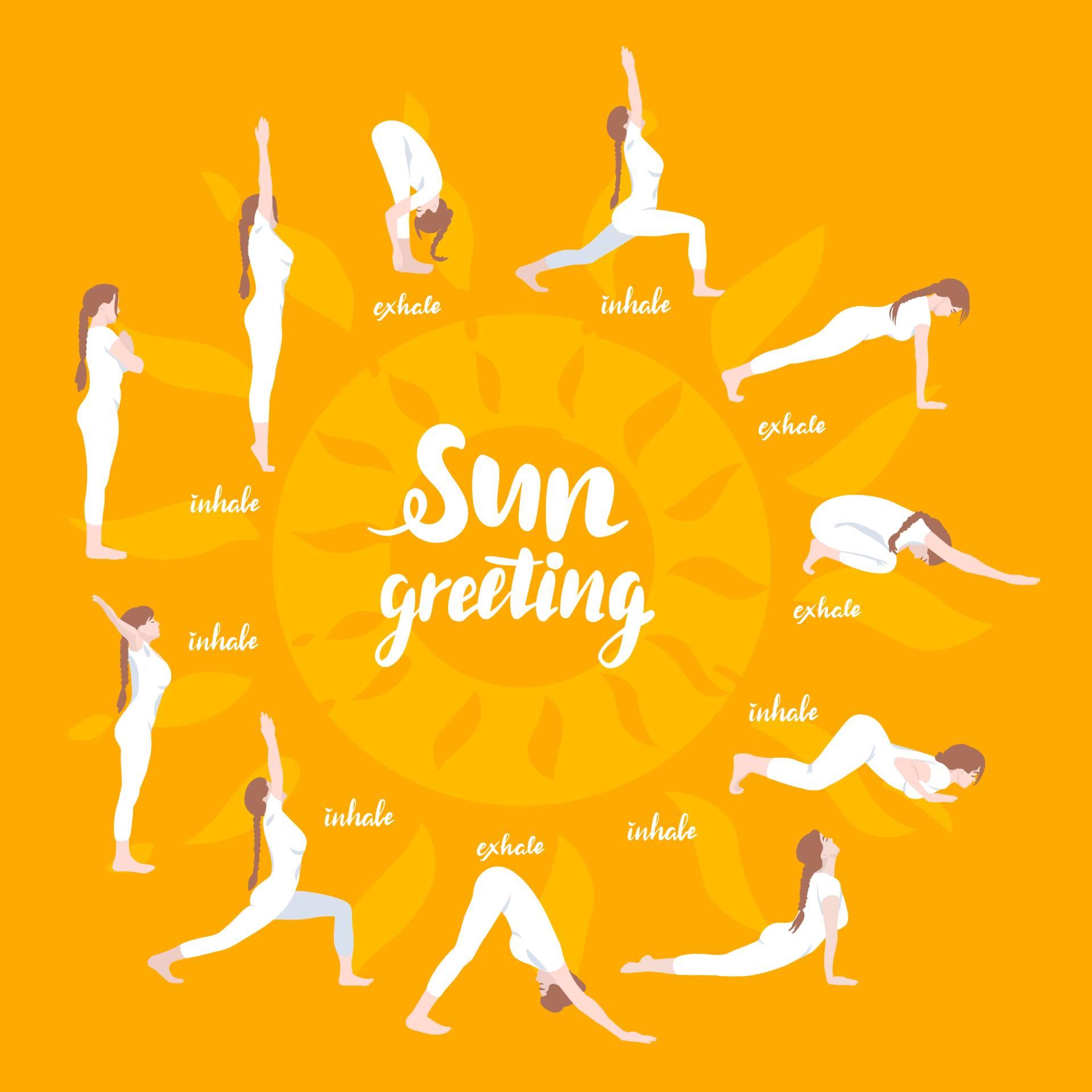 सूर्य नमस्कार के विभिन्न आसन आपके शारीरिक और मानसिक स्वास्थ्य के लिए लाभकारी हैं। चित्र: शटरस्टॉक
