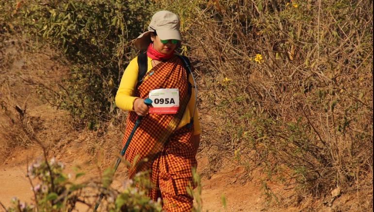 Meet Smita Biswas who lives, breathes, and does 100-kilometre walkathons in saris