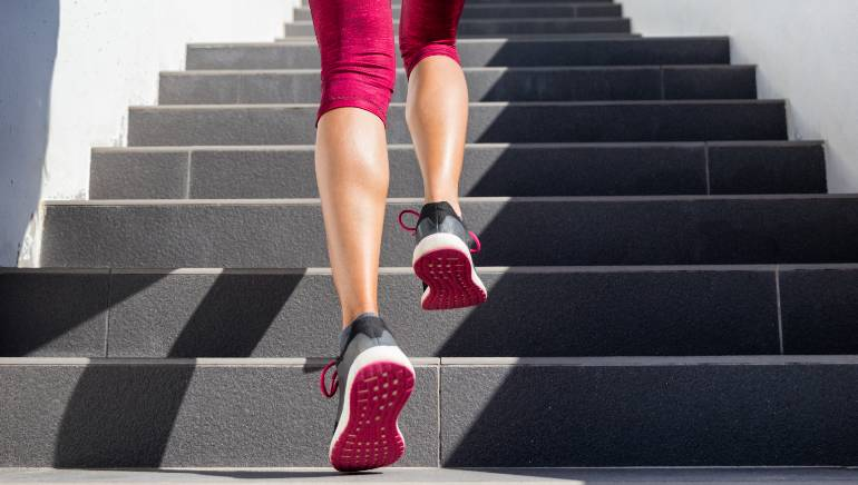 I climbed the stairs daily for a week to lose my quarantine weight and it worked!