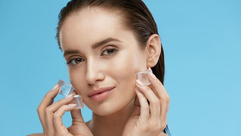 A dermatologist explains why rubbing ice on your face daily can give you flawless skin