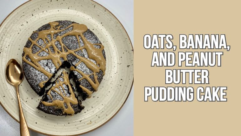 Photo of This fudgy oats and peanut butter cake recipe needs no sugar or butter